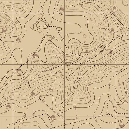 topografia: Resumen mapa Retro Topografía del fondo Vectores