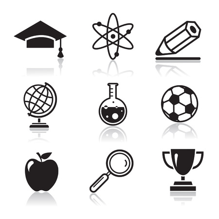 education concept: School and Education Icons