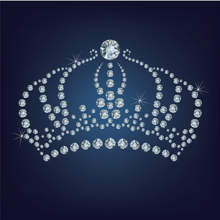 beauty contest: Crown made a lot of diamonds Illustration