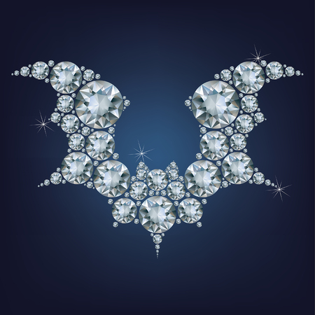 horrify: Halloween flying bat silhouettes made a lot of diamonds