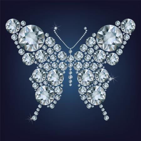 flawless: Diamond butterfly, vector illustration Illustration