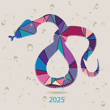 year of the snake: The 2025 new year card with Snake