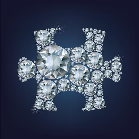 exuberance: Puzzle piece made a lot of diamond