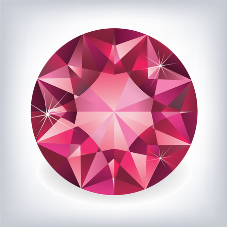 costly: Brilliant shiny ruby on grey background.