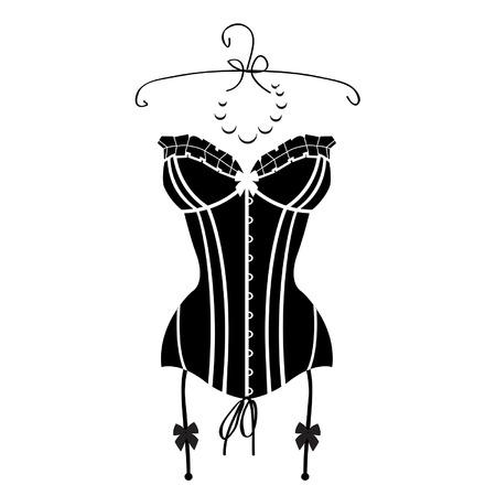 Ladys sexy black vintage corset