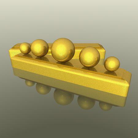 ellements: gold ellements  Stock Photo
