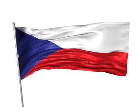 Czech Republic flag Stock Photo - 3783809