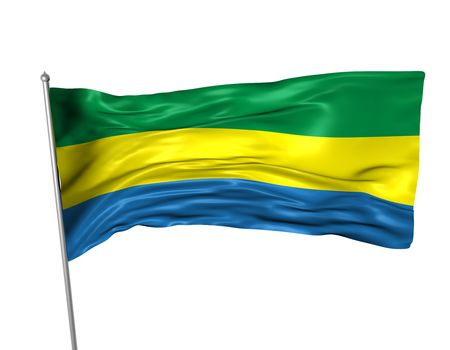 gabon: Gabon flag  Stock Photo