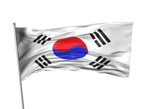 Korea flag photo