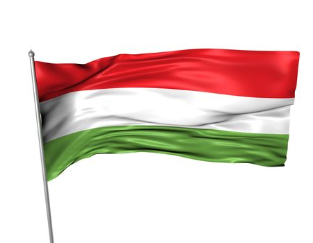 Hungary flag  photo