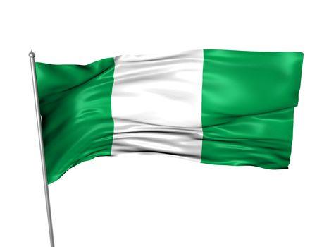 Nigeria flag  photo