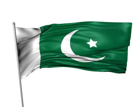 Pakistan flag  photo