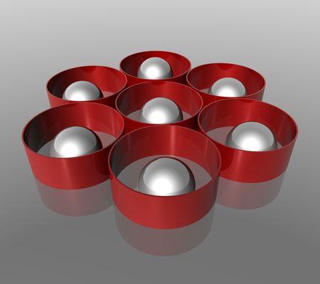 cylinder white sphere  photo