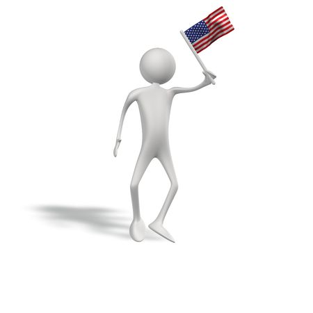 figur: human figur with usa flag