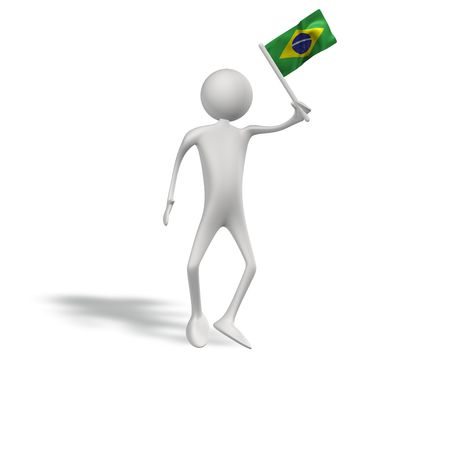 figur: human figur with brasil flag