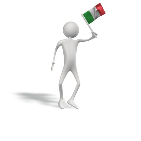 figur: human figur with italy flag