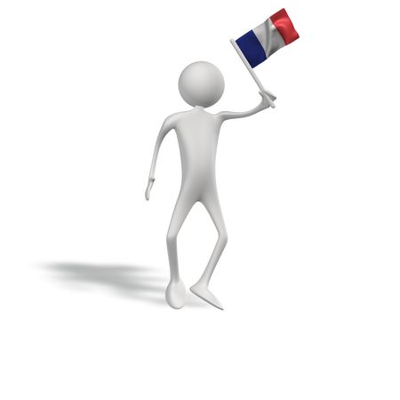 figur: human figur with france flag  Stock Photo