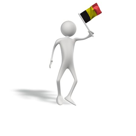figur: human figur with belgium flag  Stock Photo