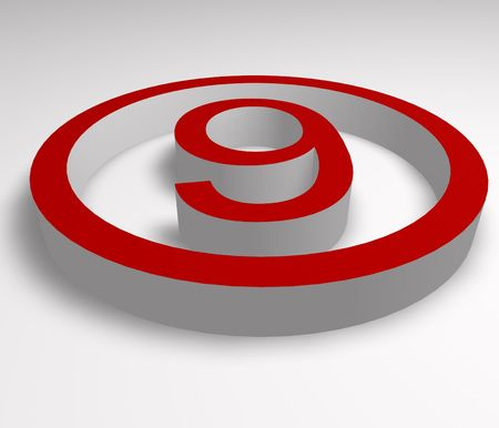 numbers 9 button in red  photo