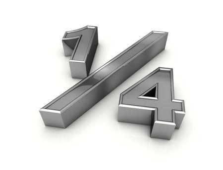 fraction: fraction one quarter