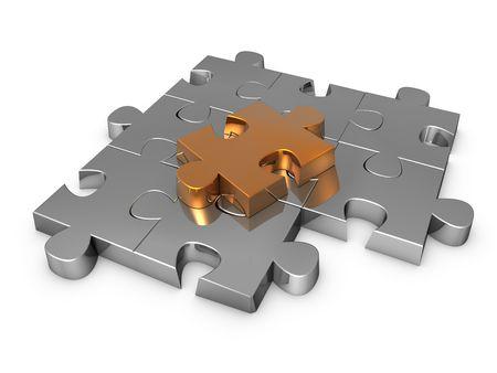 work piece: puzzle  Stock Photo