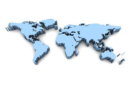 meridian: 3d world map