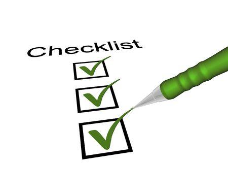 pencil box: checklist