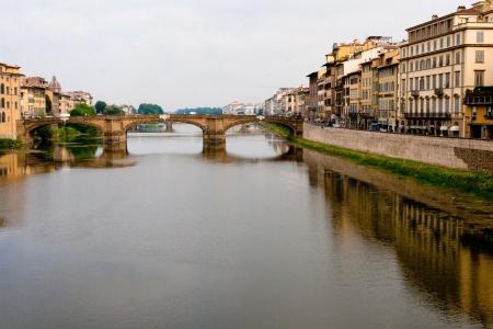 arno: Florence. The bridge over the Arno.