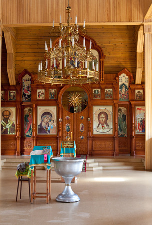 baptized: baptized in the Orthodox Church of All Saints in Novosibirsk