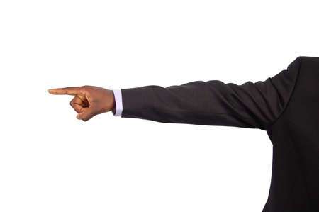 This is an image of a businessman pointing away to say Your Fired.