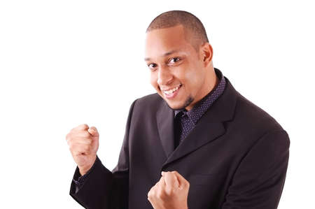 This is an image an excited businessman. Stock Photo