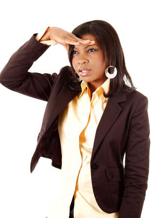 seeking an answer: This is an image of business woman searching.