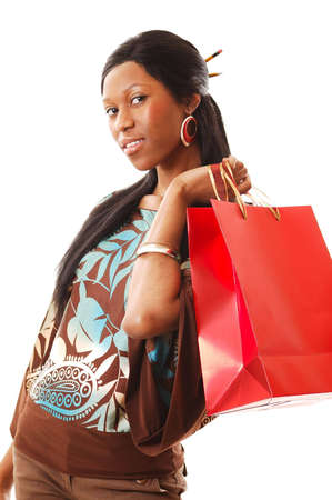 This is an image of a woman representing shopping themes.