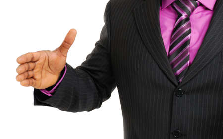 This is an image of business man offering a handshake. Success concept. Stock Photo - 5210564