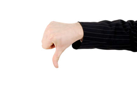 This is an image of business man gesturing thumb down. Stock Photo - 5210575