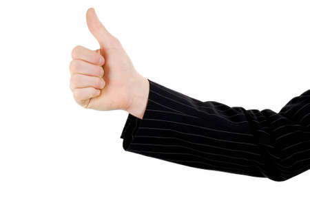 This is an image of business man giving thumbs up. Stock Photo - 5210563