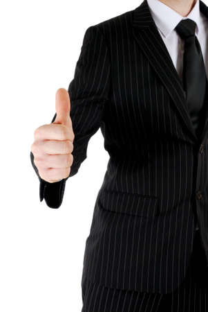 This is an image of business man giving thumbs up. Stock Photo - 5210568