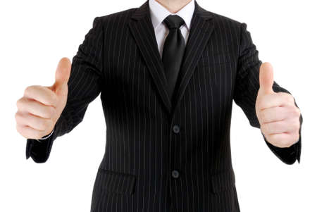 This is an image of business man giving thumbs up. Stock Photo - 5210577