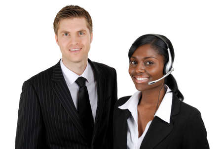 This is an image of customer support operator team. photo
