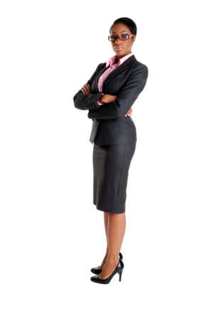 This is an image of a business woman standing confidently. Stock Photo - 9393166