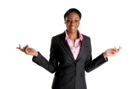 This is an image a very happy excited business woman. Stock Photo - 9393152