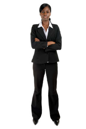 This is an image of a business woman standing confidently. Stock Photo - 9393151