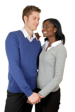 This is an image of business couple clutching each other. Stock Photo - 9393203