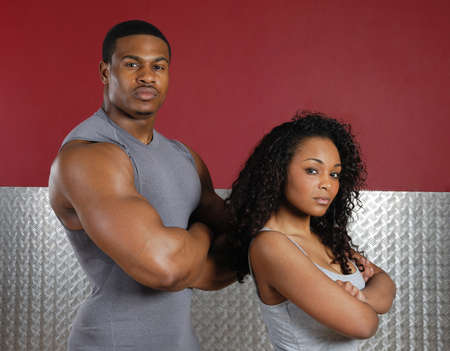 africanamerican: This is an image of a fitness trainer couple.