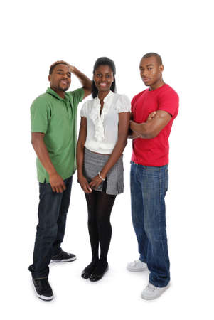 african american male: This is an image of a positive group of people. Stock Photo