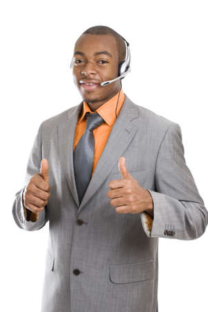 This is an image of a customer support operator.  photo