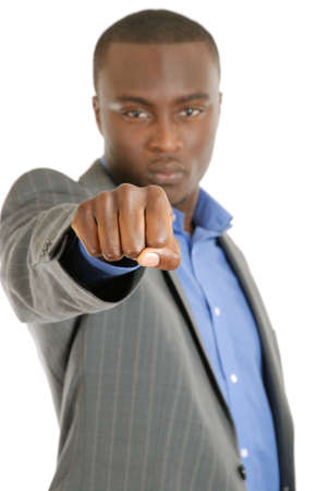 This is an image of a business man with fist. photo