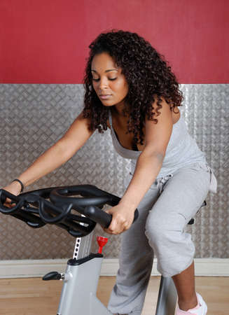This is an image of woman in the gym Stock Photo - 9413337
