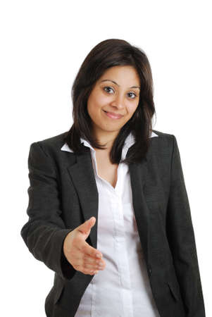 This is an image of a business woman offering handshake. Stock Photo - 9425178