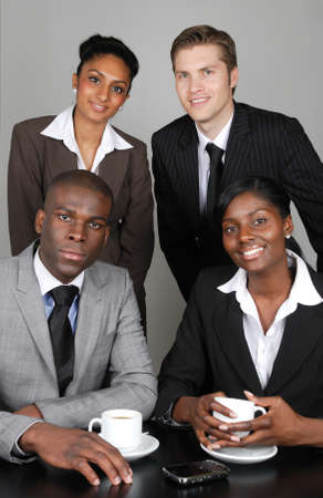 This is an image of a multi ethnic business team. photo